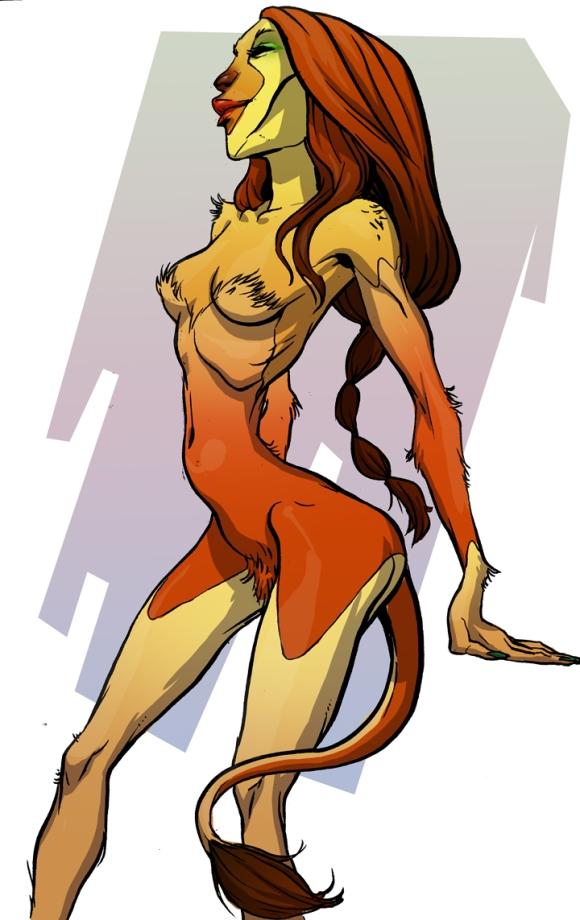 Mildly Adult Leo/Lioness Sketch